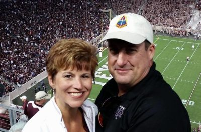Tanya and T.J. Gillespie at Kyle Field